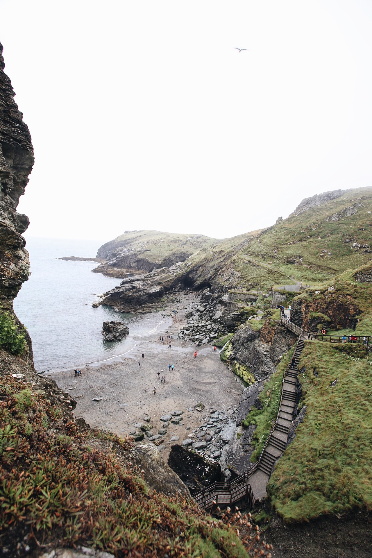Tintagel castle and post office