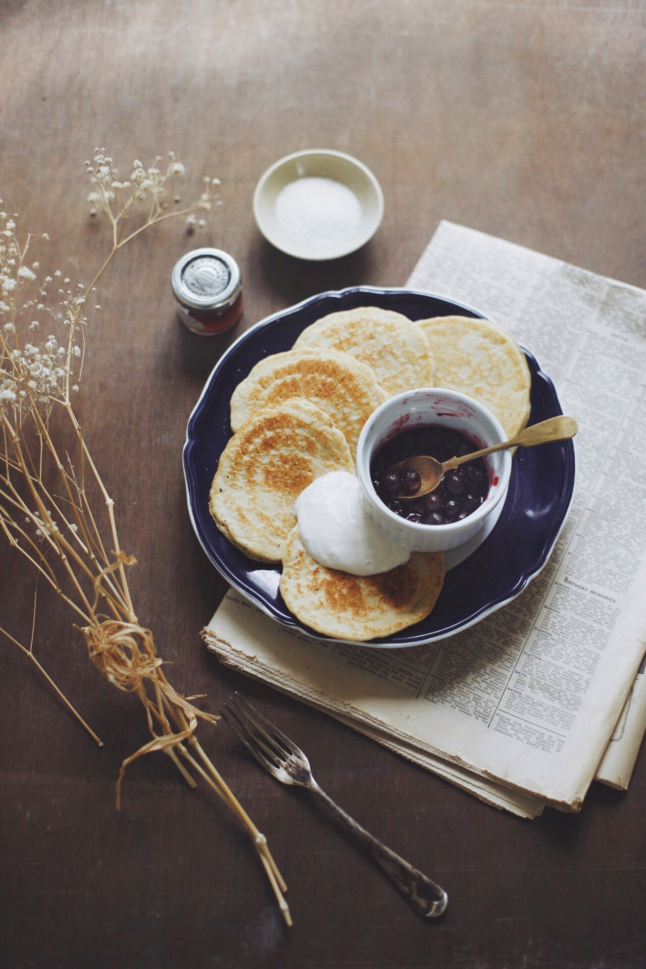 Pancakes free from gluten, sugar and dairy