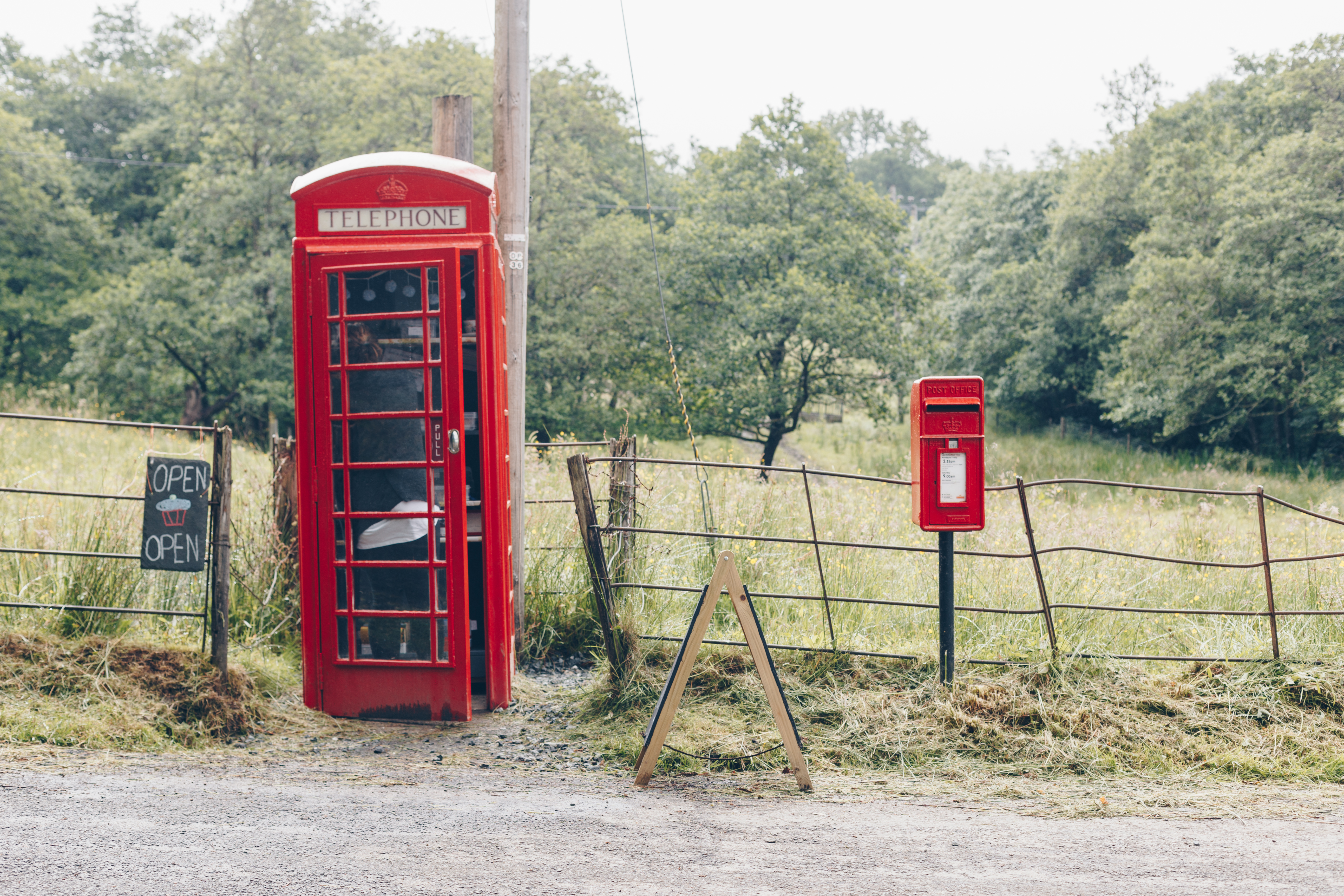 Cake in a Telephone Box at Taynuilt - Scotland Road Trip