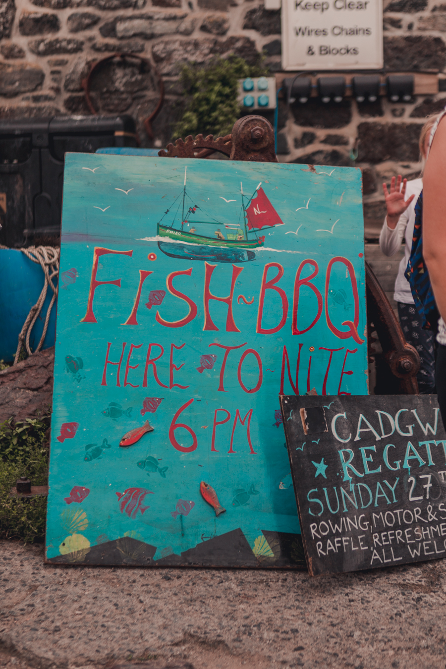 Cadgwith Cove Fish BBQ, Cornwall