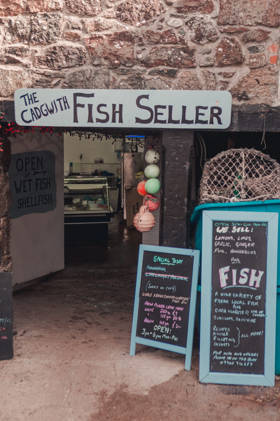 Cadgwith Cove Fish Seller, Cornwall