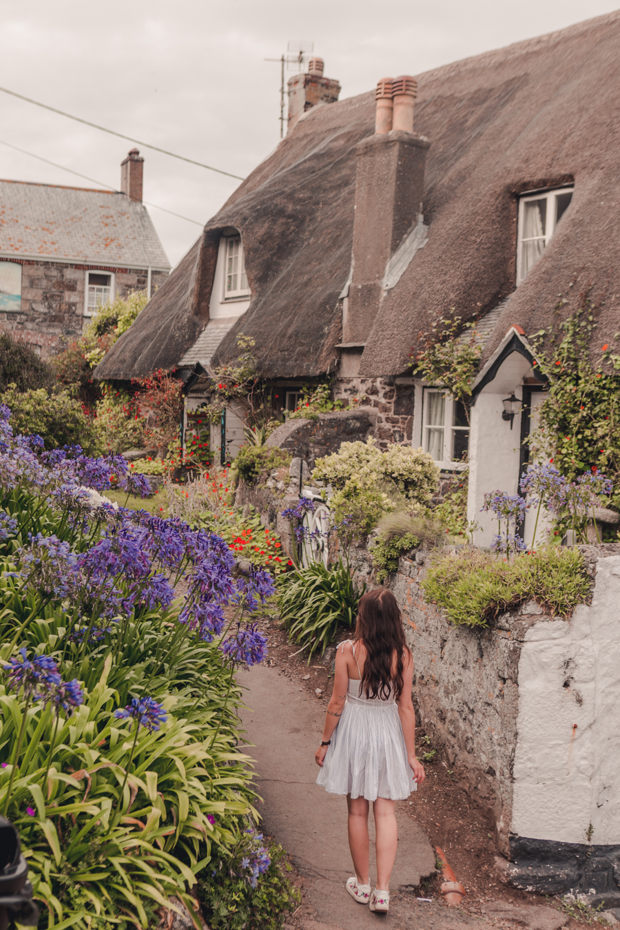Thatched Cottages in Cadgwith Cove, Cornwall